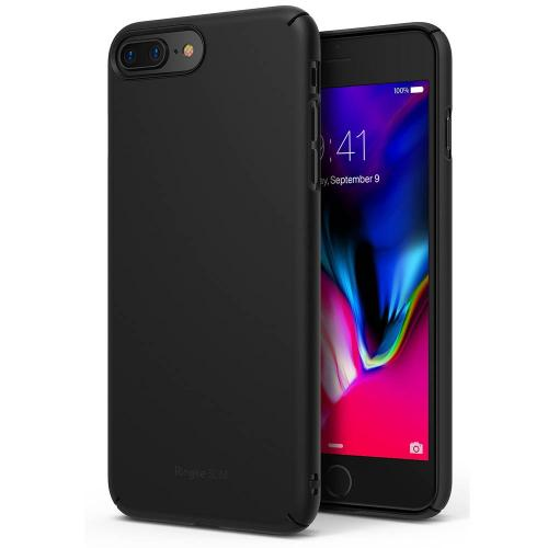 [Ringke] Apple iPhone 8 Plus / 7 Plus Case, [SLIM] Lightweight Thin PC Hard Shell Snug-Fit Protection Cover[SF Black]