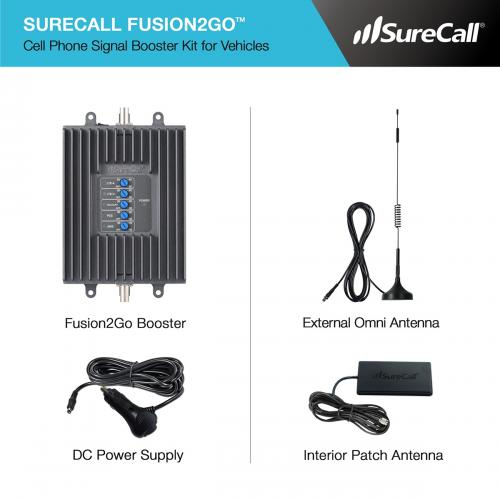 SureCall [Fusion2Go Kit] Voice, Text, 4G LTE Mobile Cell Phone Signal Booster Kit [Vehicles]