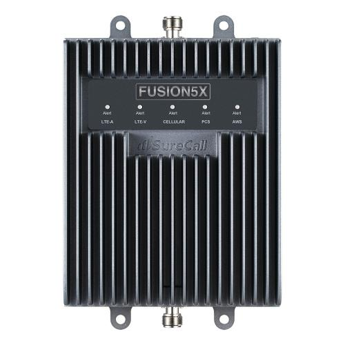 SureCall [Fusion5X] Voice, Text & 4G LTE Cell Phone Signal Booster Omni/ 4 Panel Kit [Large Buildings up to 20,000 sq ft]