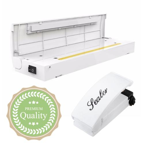 Eutuxia Heat Sealer Machine Bundle for Airtight Food Storage. Handheld & Portable Kitchen Tool. Reseal Plastic for Longer Freshness. Great for Sealing Snacks, Chips, Cereal Bags, Meats, and Leftovers.