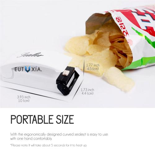 Portable Heat Sealer - Simply Slides and It's Sealed Airtight!