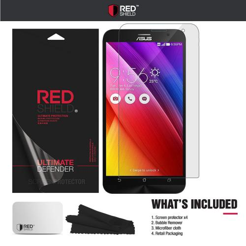 [3+1 Pack] Asus Zenfone 2 Screen Protector, REDshield [Clear] HD Ultra Thin Scratch Resistant, Bubble Free, Protective Screen Guard Film for Asus Zenfone 2