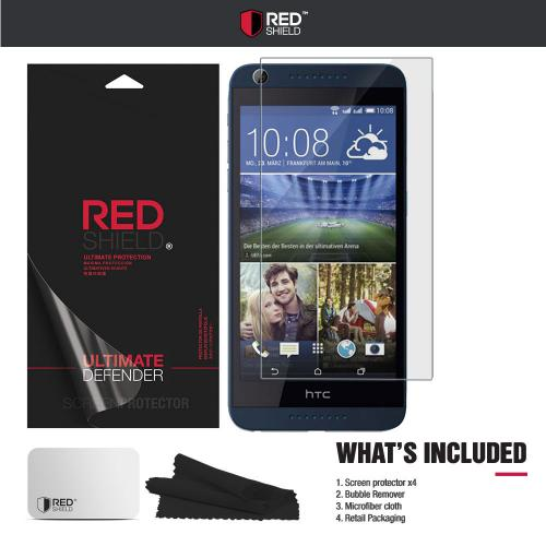 [3+1 Pack] HTC Desire 626/ 626S Screen Protector, REDshield [Clear] HD Ultra Thin Scratch Resistant, Bubble Free, Protective Screen Guard Film for HTC Desire 626/ 626S