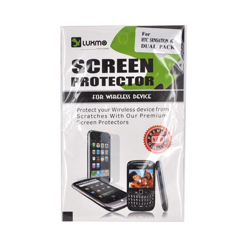 Premium HTC Sensation 4G Screen Protector (2 Pack) - Clear