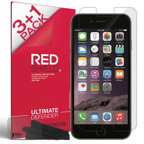 Made for Apple iPhone 6/ 6S Screen Protector[3+1 Pack] [Clear] HD Ultra Thin Scratch Resistant, Bubble Free, Protective Screen Guard Film by Redshield
