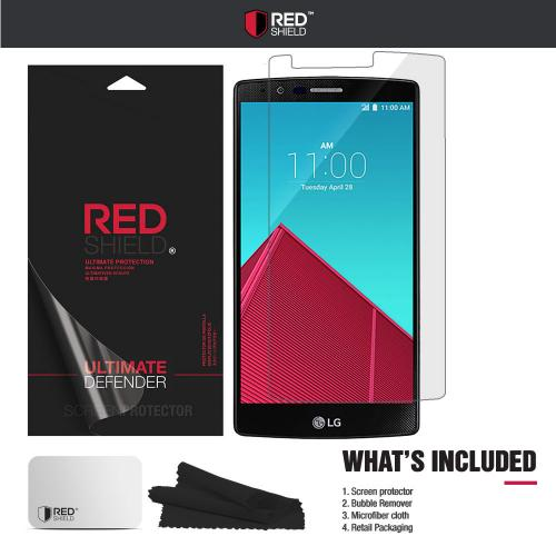 LG G4 Screen Protector, REDshield [Crystal Clear] HD Ultra Thin Scratch Resistant, Bubble Free, Protective Screen Guard Film
