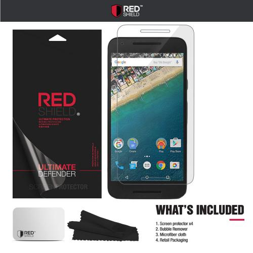 [3+1 Pack] LG Google Nexus 5X Screen Protector, REDshield [Clear] HD Ultra Thin Scratch Resistant, Bubble Free, Protective Screen Guard Film for LG Google Nexus 5X