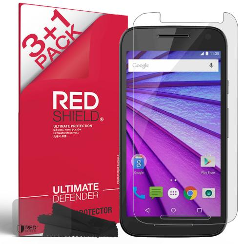 [3+1 Pack] Motorola Moto G 2015 Screen Protector, REDshield [Clear] HD Ultra Thin Scratch Resistant, Bubble Free, Protective Screen Guard Film for Motorola Moto G 2015