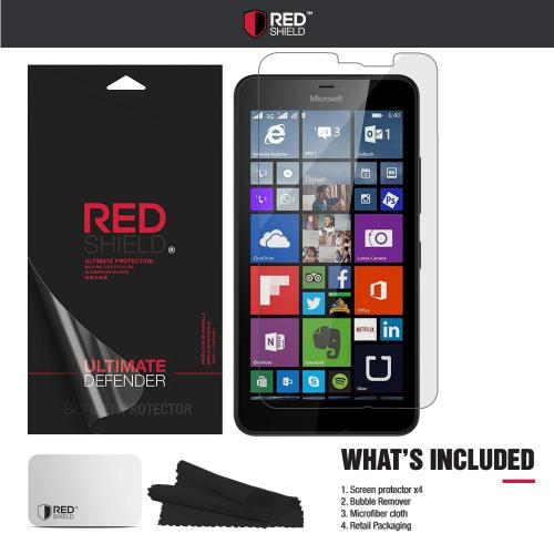 [3+1 Pack] Nokia Lumia 640XL Screen Protector, REDshield [Clear] HD Ultra Thin Scratch Resistant, Bubble Free, Protective Screen Guard Film for Nokia Lumia 640XL