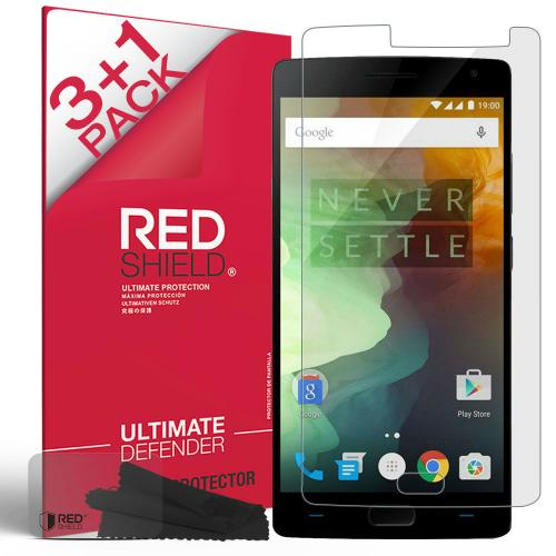 [3+1 Pack] OnePlus 2 Screen Protector, REDshield [Clear] HD Ultra Thin Scratch Resistant, Bubble Free, Protective Screen Guard Film for OnePlus 2