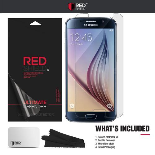 [3+1 Pack] Samsung Galaxy S6 Screen Protector, REDshield [Clear] HD Ultra Thin Scratch Resistant, Bubble Free, Protective Screen Guard Film for Samsung Galaxy S6