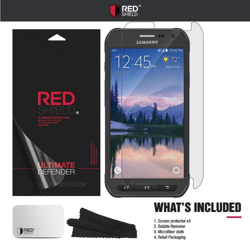 [3+1 Pack] Samsung Galaxy S6 Active Screen Protector, REDshield [Clear] HD Ultra Thin Scratch Resistant, Bubble Free, Protective Screen Guard Film for Samsung Galaxy S6 Active
