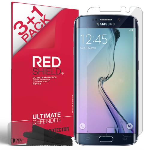 [3+1 Pack] Samsung Galaxy S6 Edge Screen Protector, REDshield [Clear] HD Ultra Thin Scratch Resistant, Bubble Free, Protective Screen Guard Film for Samsung Galaxy S6 Edge