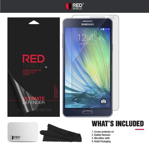 [3+1 Pack] Samsung Galaxy A7 Screen Protector, REDshield [Clear] HD Ultra Thin Scratch Resistant, Bubble Free, Protective Screen Guard Film for Samsung Galaxy A7