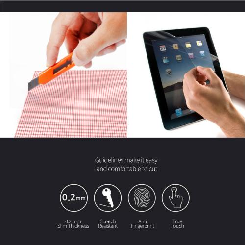 "RED SHIELD Universal Screen Protector 13"" for Tablet, Smartphone, Smartwatch, Gaming Device, and GPS. High Definition Crystal Clear Anti-Scratch, Anti-Fingerprint Film. Easy to Cut with Guidelines."