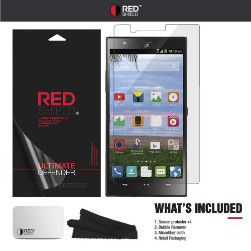 [3+1 Pack] ZTE Lever Z936L Screen Protector, REDshield [Clear] HD Ultra Thin Scratch Resistant, Bubble Free, Protective Screen Guard Film for ZTE Lever Z936L