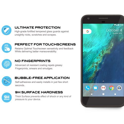 [Google Pixel XL] Screen Protector, [Tempered Glass] Ultimate Tempered Glass Impact-Resistant Protective Screen Protector