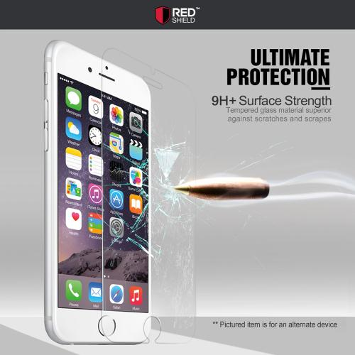 [REDshield] Apple iPhone X Screen Protector, [Tempered Glass] 3D Curved Tempered Glass Screen Protector, Covers Edge to Edge [White]