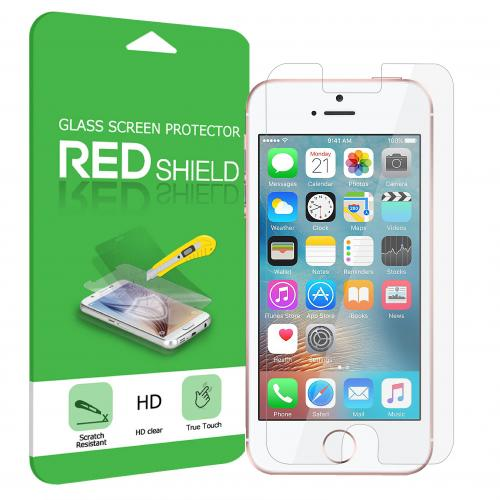 Made for Apple iPhone SE/5/5S/5C Screen Protector, [Tempered Glass] Ultimate Impact-Resistant Protective Screen Protector by Redshield