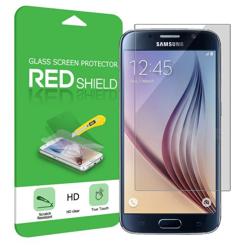 Samsung Galaxy S6 Screen Protector, REDshield [Tempered Glass] Ultimate Impact-Resistant Protective Screen Protector