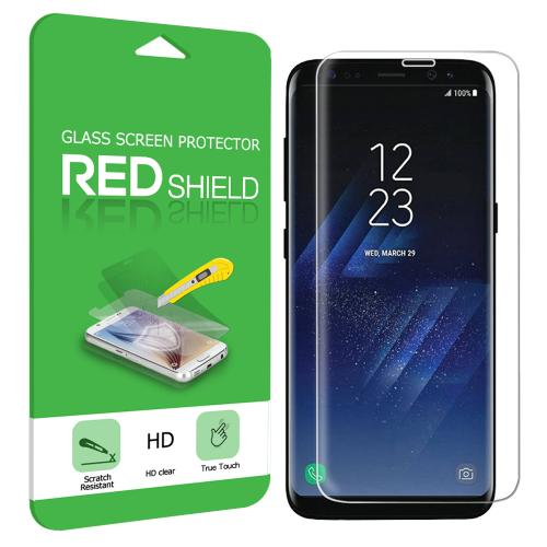 Samsung Galaxy S8 Tempered Glass, Anti-shock Screen Protector Full Coverage, Edge to Edge!