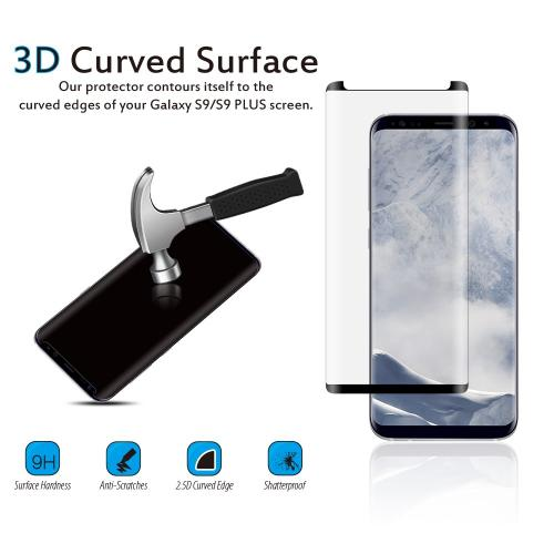 [Samsung Galaxy S9] Screen Protector, [Tempered Glass] Ultimate Impact-Resistant Protective Screen Protector