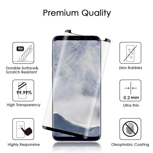 [Samsung Galaxy S9 PLUS] Screen Protector, [Tempered Glass] Ultimate Impact-Resistant Protective Screen Protector