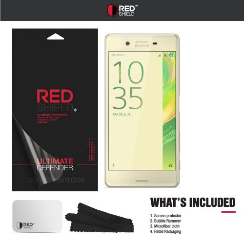 Sony Xperia X Screen Protector, REDshield [Tempered Glass] Ultimate Tempered Glass Impact-Resistant Protective Screen Protector