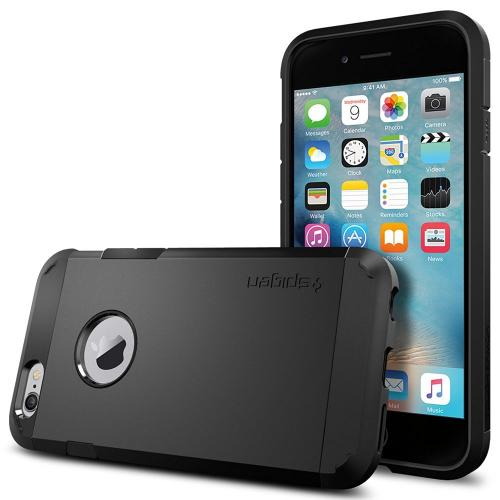 Made for Apple iPhone 6/6S Case, Spigen [Extreme Protection] Tough Armor Case w/ Air Cushion Technology [Black] by Spigen