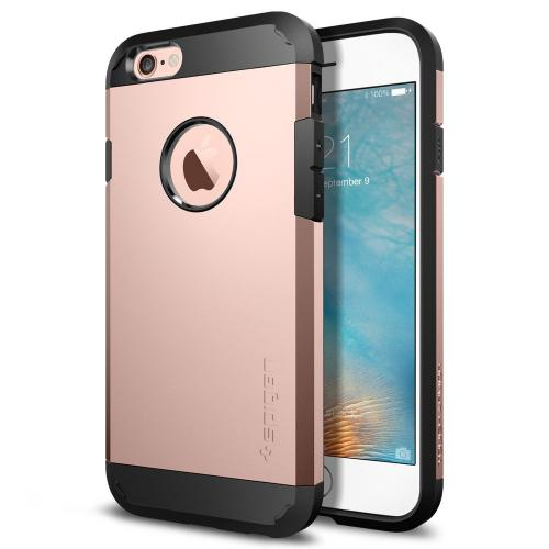 Apple iPhone 6/6S Case, Spigen [Extreme Protection] Tough Armor Case w/ Air Cushion Technology [Rose Gold]