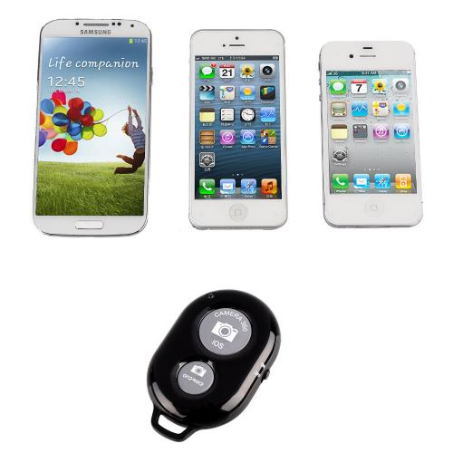 White Wireless Bluetooth Shutter Remote - Take Selfies with Android Devices!