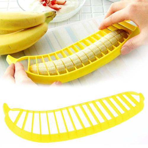 Banana Cutter Slicer [Yellow] - Save Your Fingers!