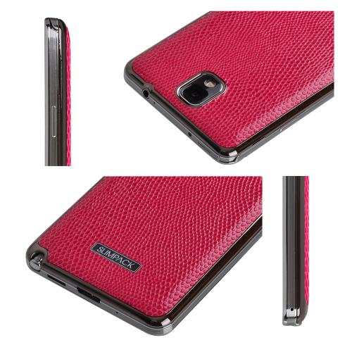 Slimpack Hot Pink Samsung Galaxy Note 3 leather textured battery door case
