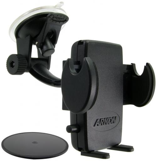 Arkon Black Mega Grip Mount - Windshield / Dashboard / Console Mount (GN014-SBH + SM040-2 + AP013)