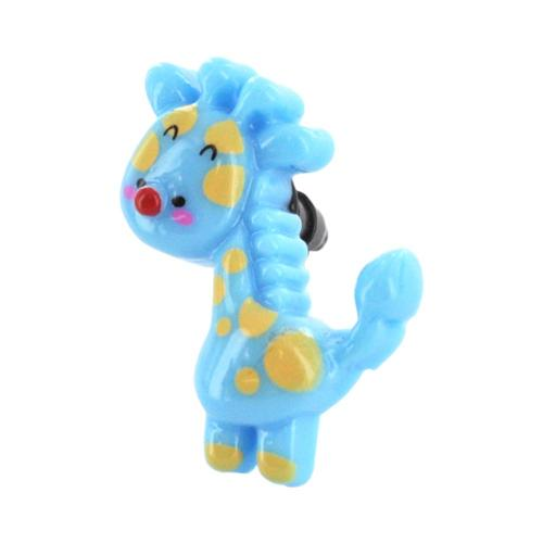 3.5mm Headphone Jack Stopple Charm - Blue/ Yellow Giraffe