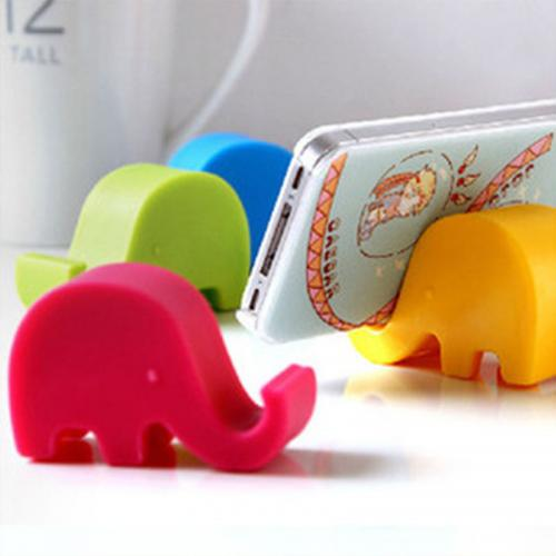 Portable Elephant Phone Holder Stand [Hot Pink]