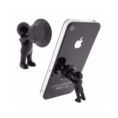[2 Pack] Cute 3D Man Phone Holder Suction Cup Stand [Random Colors Sent]