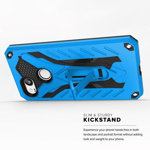 Google Pixel 2 Case, STATIC Dual Layer Hard Case TPU Hybrid [Military Grade] w/ Kickstand & Shock Absorption [Blue/ Black]