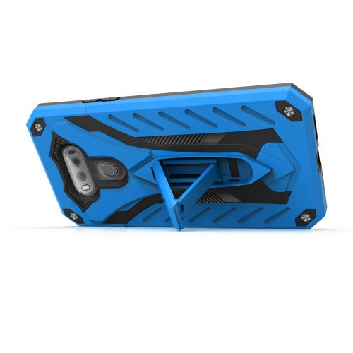 LG V20 Case, STATIC Dual Layer Hard Case TPU Hybrid [Military Grade] w/ Kickstand & Shock Absorption [Blue/ Black]