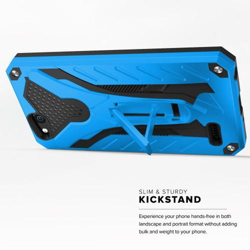 ZTE Tempo X/ Avid 4 Case, [STATIC] Dual Layer Hard Case TPU Hybrid [Military Grade] w/ Kickstand & Shock Absorption [Blue/ Black]