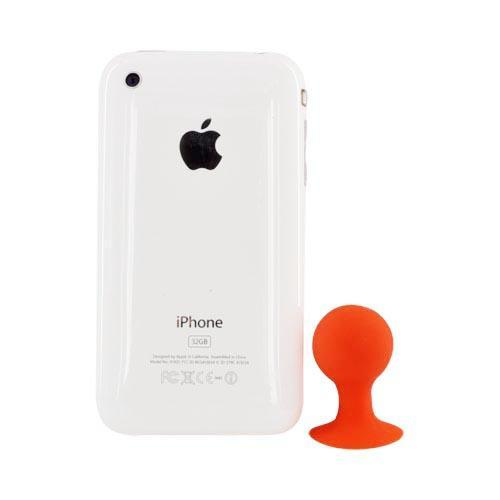 Universal Portable Cell Phone Silicone Suction Ball Stand Holder - Red