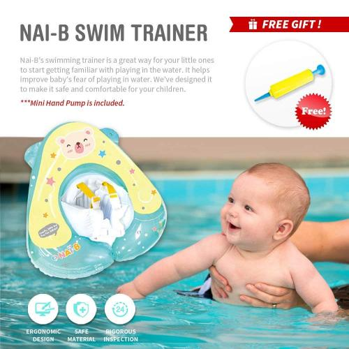 Nai-B Pool Floats for Kids and Toddler, Inflatable Baby Swim Trainer, Floatie for Infants, Floating Ring for Swimming Pool
