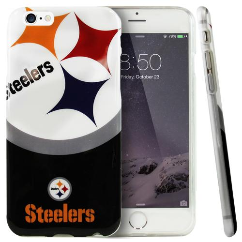 Made for Apple iPhone 6/ 6S Case, NFL Licensed [Pittsburgh Steelers]  Slim Flexible Anti-shock Crystal Silicone Protective TPU Gel Skin Case Cover by NFL