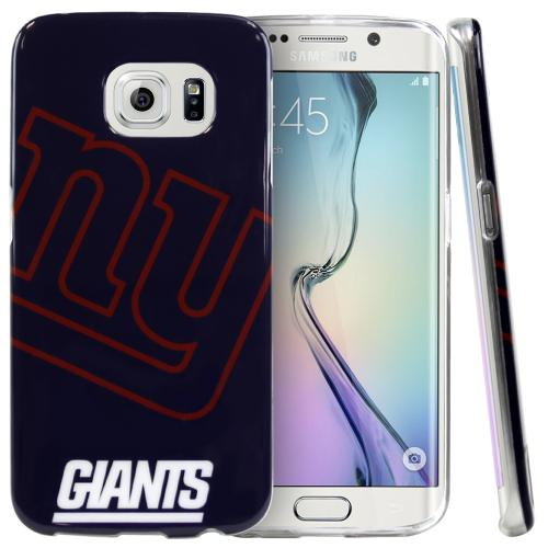 Samsung Galaxy S6 Edge Case, NFL Licensed [New York Giants]  Slim & Flexible Anti-shock Crystal Silicone Protective TPU Gel Skin Case Cover