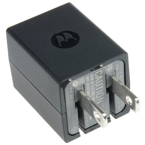 Motorola Dual USB Wall Charger with Micro USB Charge/ Sync Data Cable [Black]