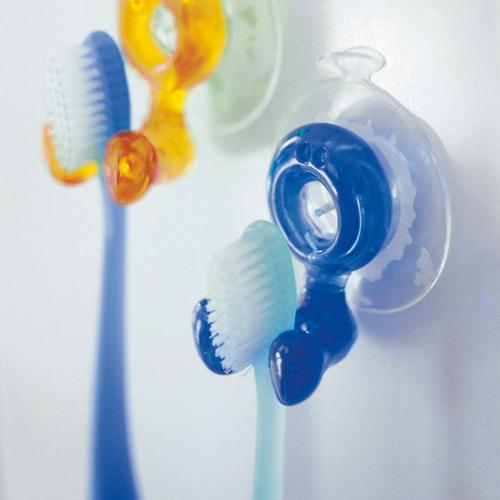 Toothbrush Holder, [Blue] Toothbrush Holder - Holds Your Toothbrush & Suctions to the Mirror!