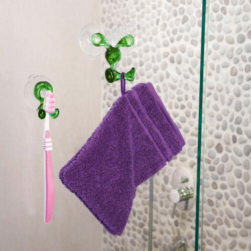 Toothbrush Holder, [Green] Toothbrush Holder - Holds Your Toothbrush & Suctions to the Mirror!