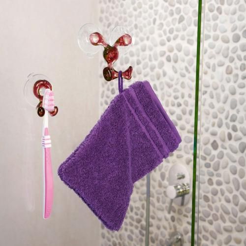 Toothbrush Holder, [Red] Toothbrush Holder - Holds Your Toothbrush & Suctions to the Mirror!