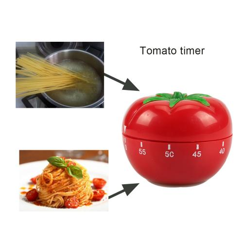 Eutuxia Kitchen Timer, Mechanical. Unique Tomato Shaped Cooking & Baking Helper with Loud Alarm. No More Burnt Food. Twist Clockwise to Set Up to 60 Minutes. No Batteries Required. Fun & Easy to Use.