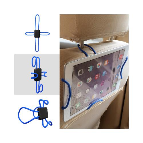 Tablet Mount, Universal Cross-Shaped Flexible DIY Tablet [up to 10.5 inch] Holder Mount [Blue]